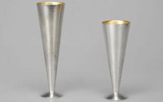 Бокалы для шампанского из олова