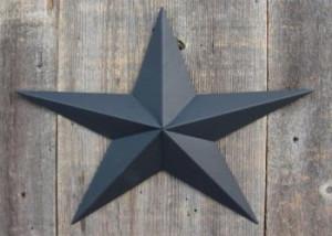 Ккрашенное олово в черный цвет - вид звезда
