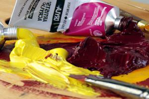 Акриловая краска - больше всего подходит для окраски олова