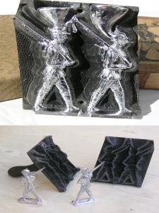 Как отлить олово и сделать солдатика
