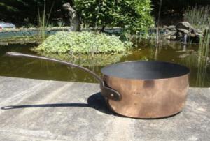 Оловяная сковородка покрыта медью