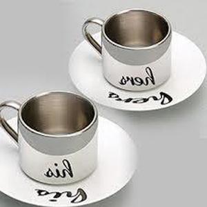 Шекарный подарок на свадьбу - чашечки для кофе из олова